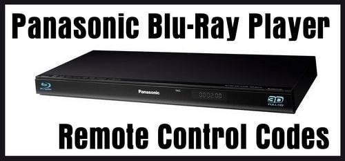Panasonic Blu-Ray Player Remote Control Codes