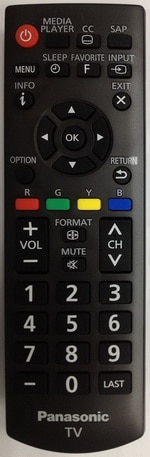 Panasonic OEM Replacement Remote Control for TVs