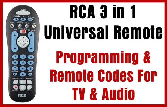 RCA 3 in 1 Universal Remote - Programming & Remote Codes For TV & Audio