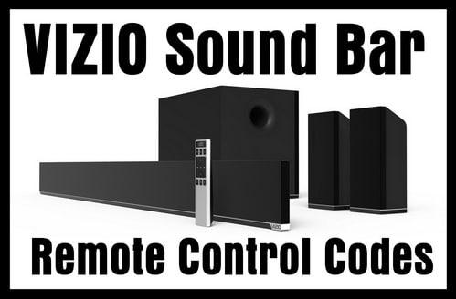 Remote Codes For VIZIO Sound Bars