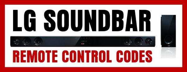 Remote Control Codes For LG Soundbars