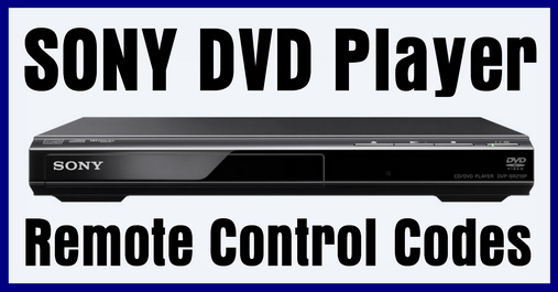 Remote Control Codes For SONY DVD Players