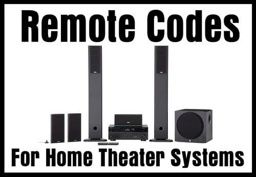 Remote codes for home theater systems