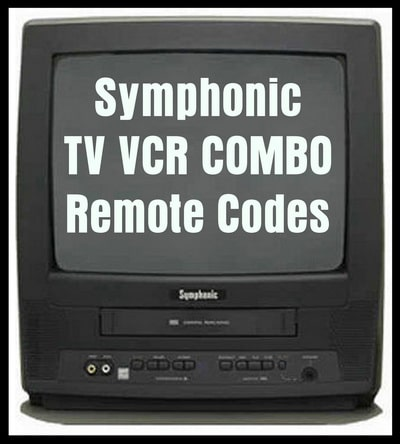 SYMPHONIC TV VCR COMBO REMOTE CODES