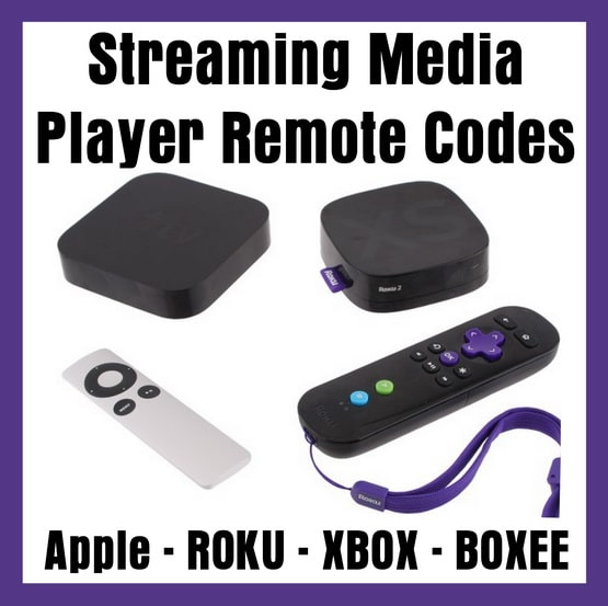 Streaming Media Player Remote Codes