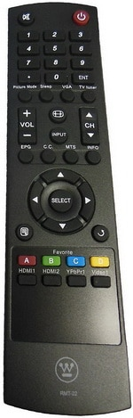 WESTINGHOUSE OEM TV Remote Control