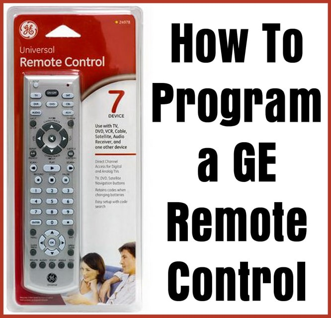 how to program a GE remote control