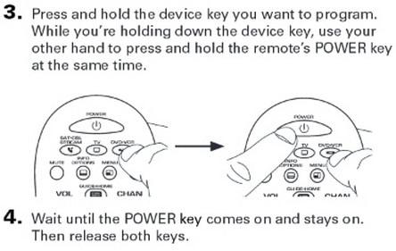 rca rcr313br universal 3 device remote control AUTO CODE SEARCH 3