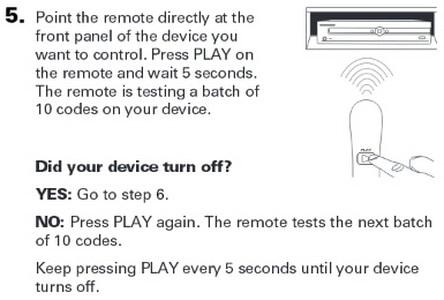 rca rcr313br universal 3 device remote control AUTO CODE SEARCH 4