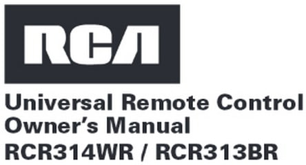 rca rcr313br universal 3 device remote control manual