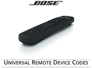 BOSE UNIVERSAL REMOTE DEVICE CODES