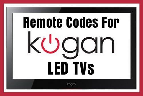 Kogan LED TV Remote Codes