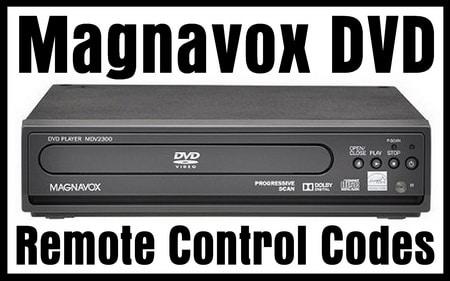 Magnavox DVD Remote Control Codes