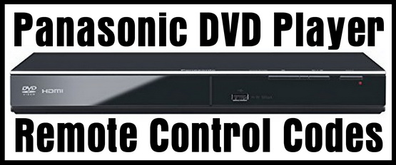 Panasonic DVD Player Remote Control Codes