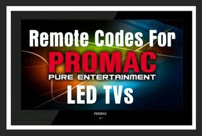 Promac TV Remote Codes