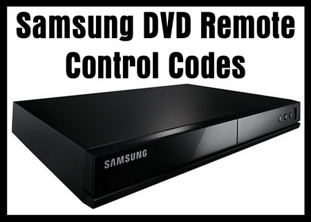 Remote Codes For Samsung DVD Players