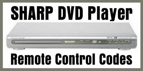 Sharp DVD Player Remote Codes