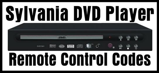 Sylvania DVD Player Remote Control Codes