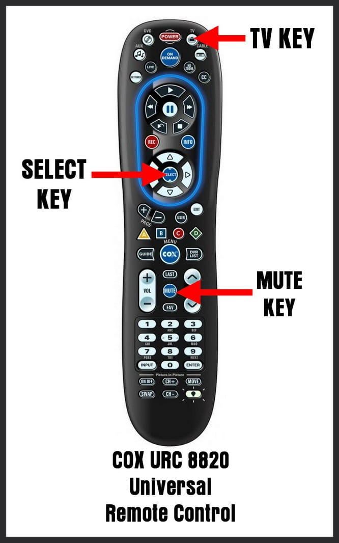 How To Program The COX URC 8820 Universal Remote Control