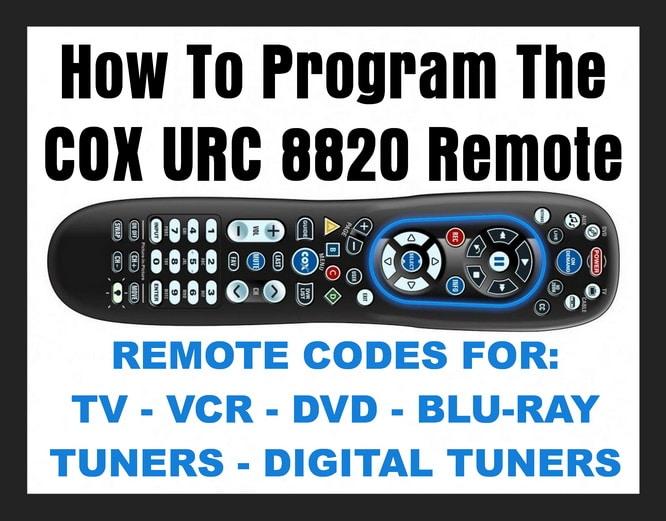 COX URC 8820 Universal Remote Control With Remote Codes