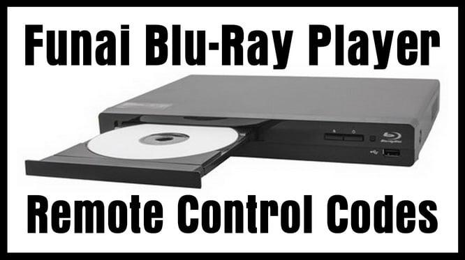 Funai Blu Ray Player Remote Control Codes