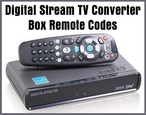 Digital Stream Converter Box Remote Control Codes