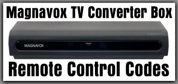 Magnavox TV Converter Box Remote Codes