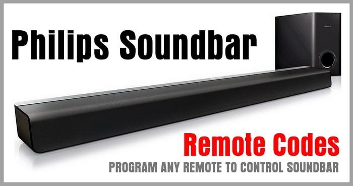 Remote Codes for Philips Soundbars