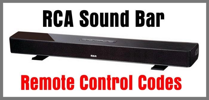 Remote codes for RCA soundbars