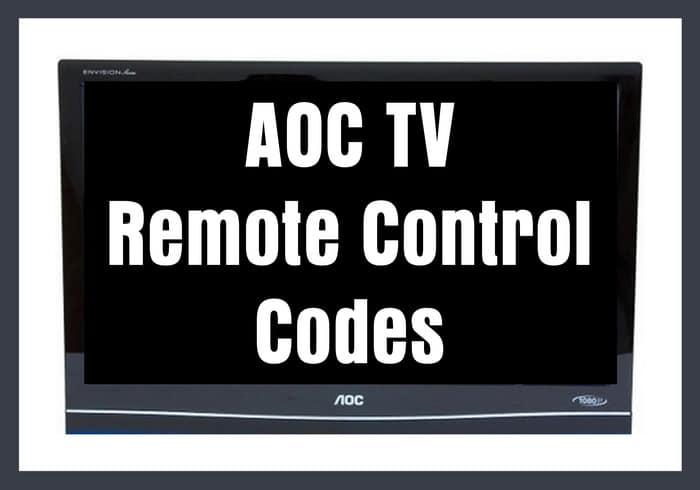 AOC TV Remote Control Codes