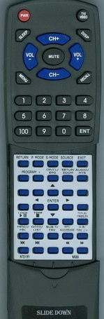 NAXA Replacement Remote Control for NTD2252, NTD1952, NTD1351, and NTD1552