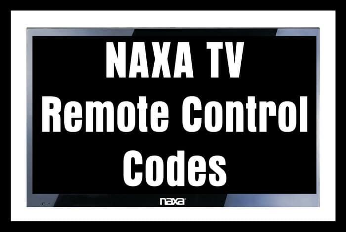 NAXA TV Remote Control Codes