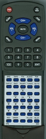 Replacement Remote Control for NAXA NT52, NT-52, RTNT52, NT-53, and NT53