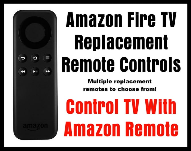 Amazon Fire TV Replacement Remote Controls - Control TV With Amazon Remote