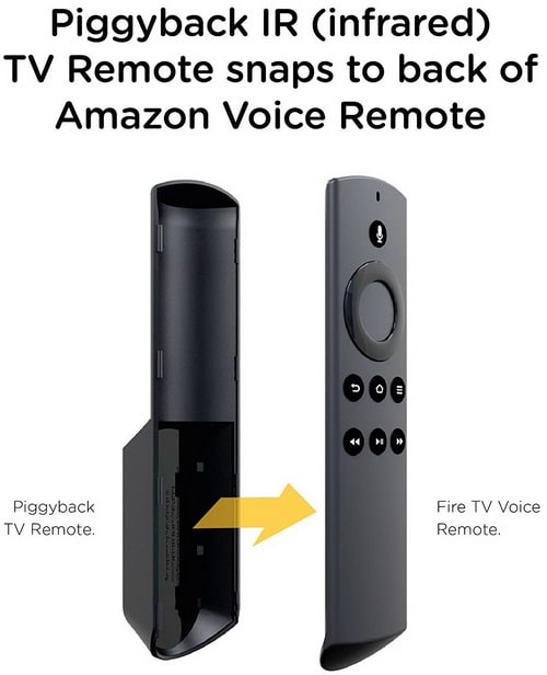 TV Remote Add on for Fire TV Alexa Voice Remote - Control your TV directly from your Fire TV remote