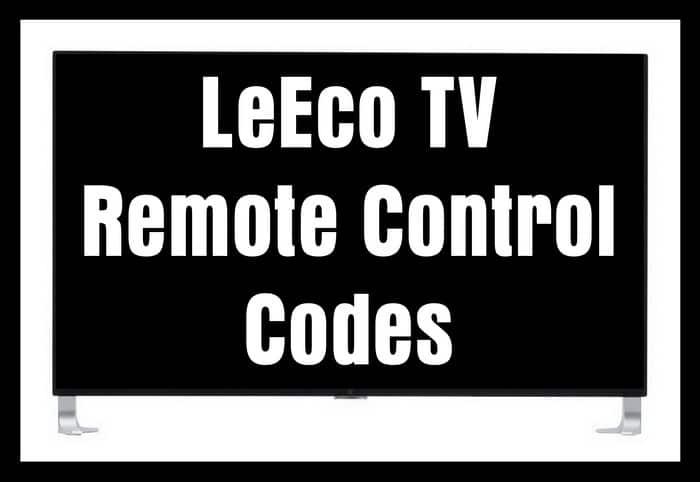 LeEco TV Remote Control Codes