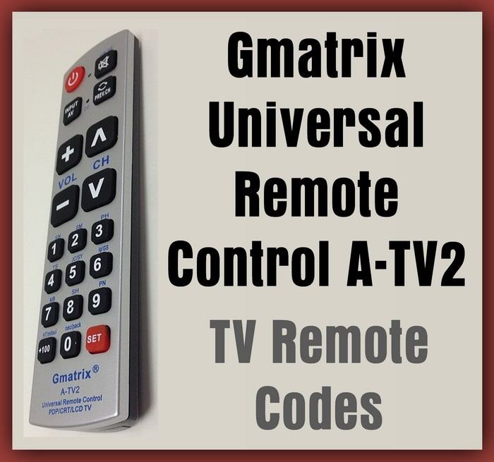 Gmatrix A-TV2 Universal Remote Control - Vizio Panasonic Sharp