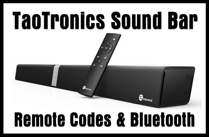 Soundbar TaoTronics Sound Bar Wired and Wireless Bluetooth Audio