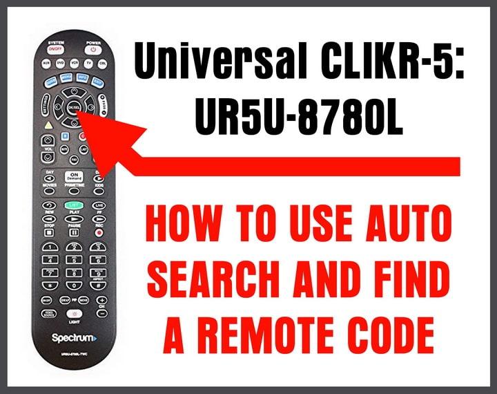Universal Ur5u 8780l Remote Control Auto Search For Codes Codes For Universal Remotes