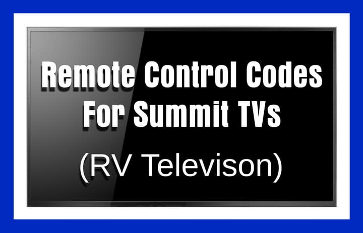 SUMMIT tv remote codes