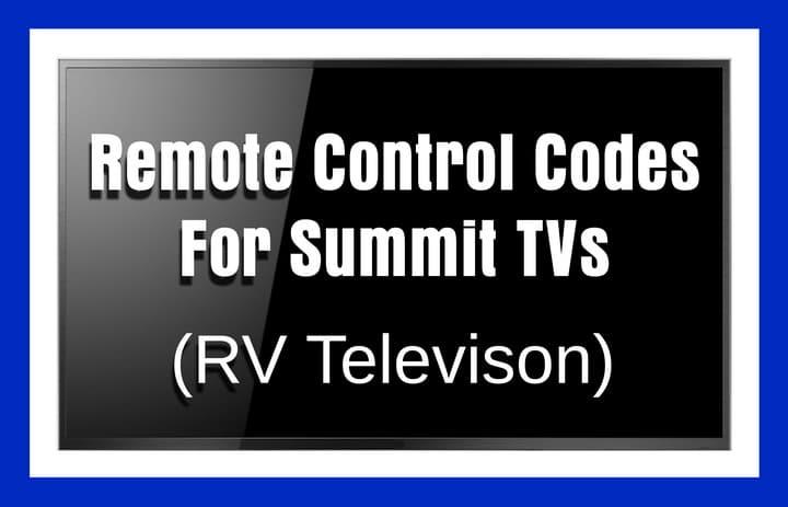SUMMIT tv remote codes