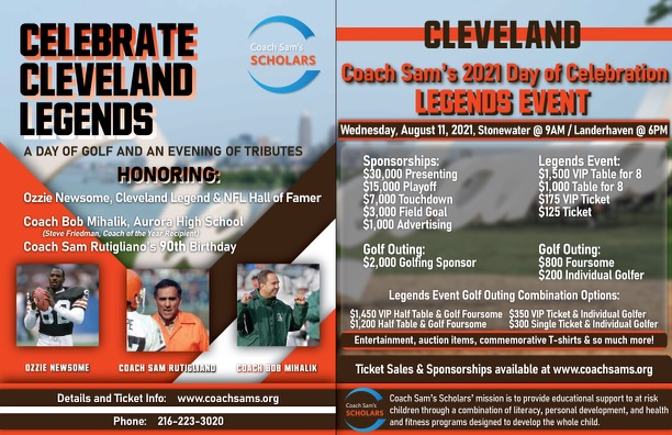 2021 Legends Event and Golf Outing