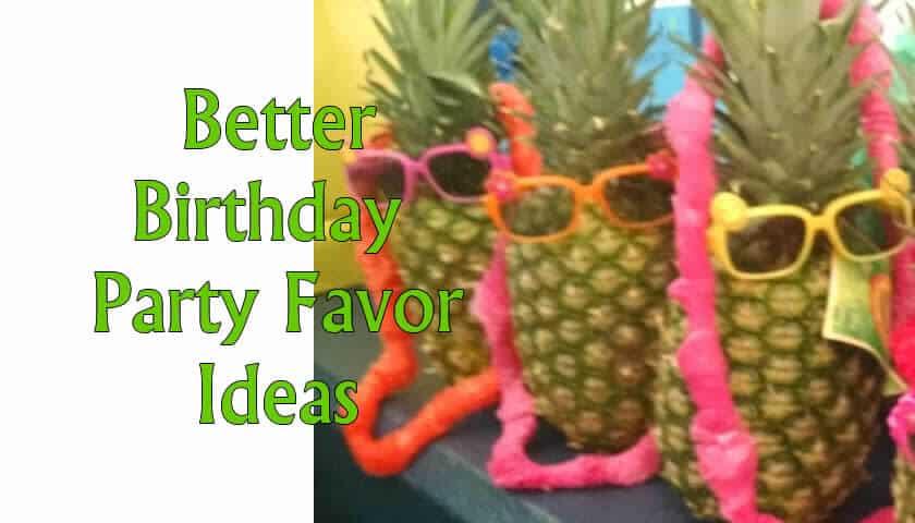 Kid's Party Favor Ideas