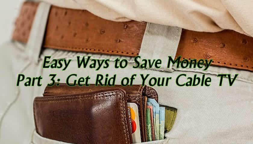 Saving money by getting rid of cable television