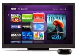 Roku box channel screen