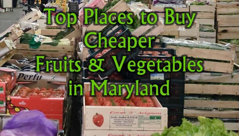 Where to buy fruits and vegetables for the best prices in Maryland
