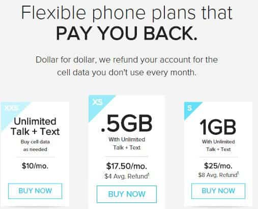 Flexible phone plans that pay you back for unused data