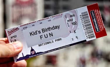 Ticket for birthday fun