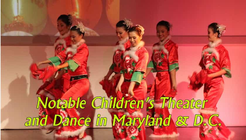children's theater and dance companies in Maryland and Washington DC