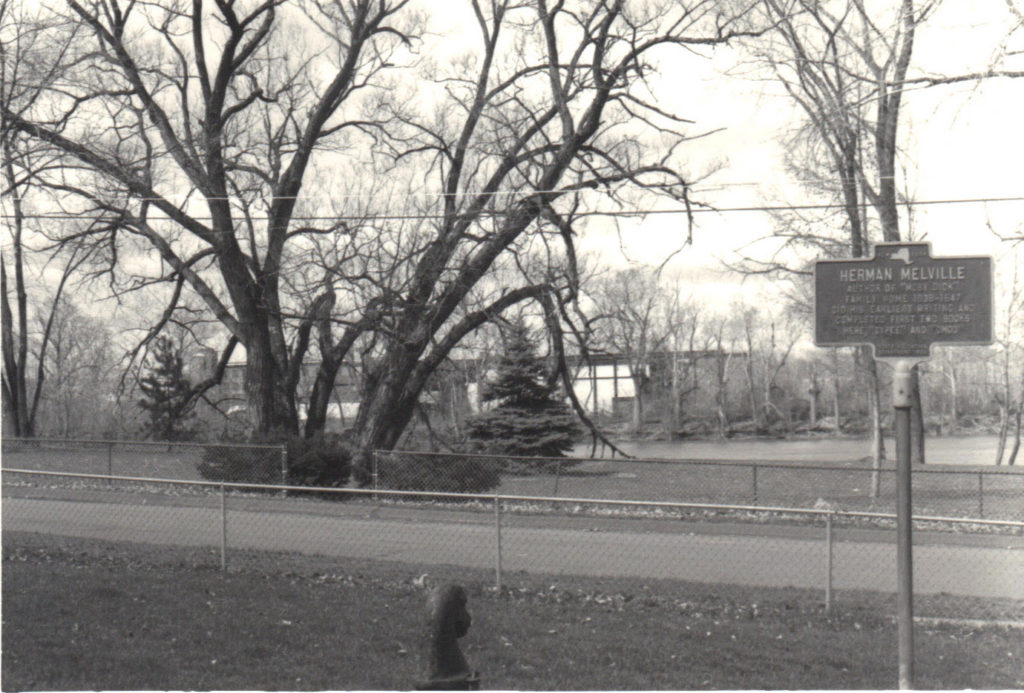Herman Melville Park as seen from yard of Melville House